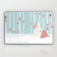 A Cold Winter For Bunnie… Laptop & iPad Skin