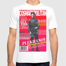 COSMARXPOLITAN, Issue 15 Mens Fitted Tee SMALL White