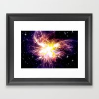 SHINING STAR. Framed Art Print