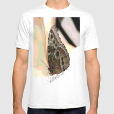 Bulls Eye Butterfly White Mens Fitted Tee SMALL