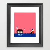 Rocking Out Framed Art Print