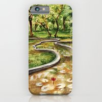 iPhone & iPod Case featuring Autumn Pond by Leechi