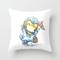 Psy of Relief Throw Pillow
