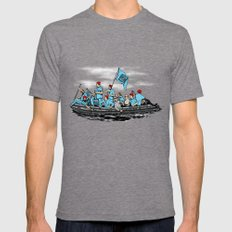 Team Zissou Crossing the Delaware Mens Fitted Tee Tri-Grey SMALL