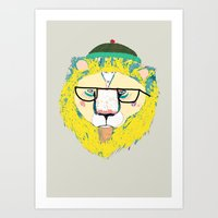 Mr Lion Art Print