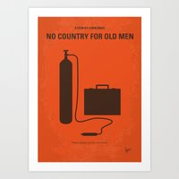 No253 My No Country for Old men minimal movie poster Art Print