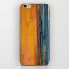 Blue and Orange - Textured Abstract iPhone & iPod Skin