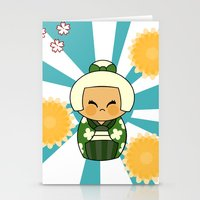 Kokeshi Hisui Stationery Cards