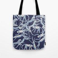 Monkey Blue Tote Bag