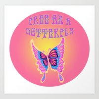 Free As A Butterfly Art Print