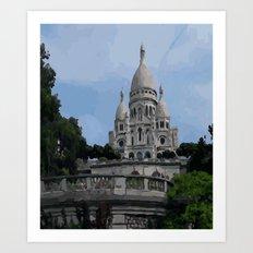 Sacre Coeur Paris France Art Print