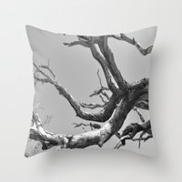 Driftwood Ladder B/W Throw Pillow