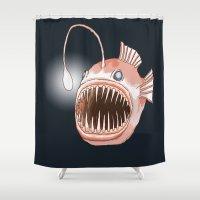 Anglerfish Shower Curtain