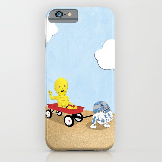 SW Kids - C3PO & R2D2 Red Wagon iPhone & iPod Case