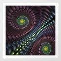Spirals Fractal Art Print
