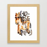Horse Play Framed Art Print