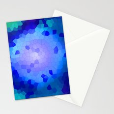 Aqua Stained Stationery Cards