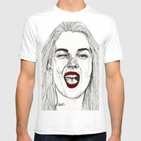 Kate With The Red Lips Mens Fitted Tee White SMALL