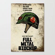 Full Metal Biochip Canvas Print
