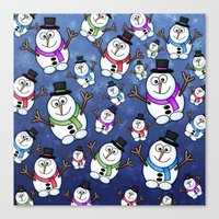 Frosties The Snowmen. Canvas Print