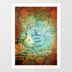 Sea Swirl Art Print