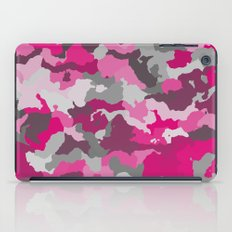 Pink and Gray camo 2 iPad Case