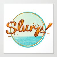 Summer Slurp! Canvas Print