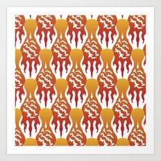 SCORCH pattern [WHITE] Art Print