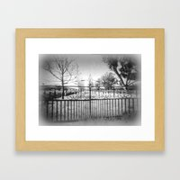Gate Framed Art Print