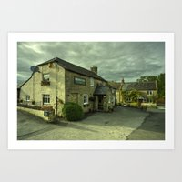 The Crown At Uploders  Art Print