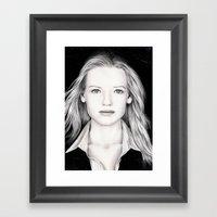 ANNA TORV - OLIVIA DUNHA… Framed Art Print