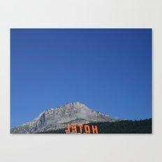 Chamonix hotel Canvas Print