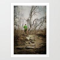 Skateboard Stroll Art Print
