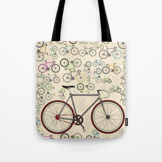 Love Fixie Road Bike Tote Bag