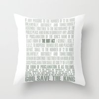 The Riot Act Throw Pillow