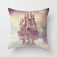Castle in the Trees Throw Pillow