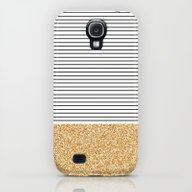 Minimal Gold Glitter Str… Galaxy S4 Slim Case