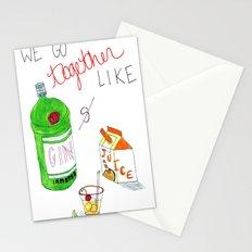 Gin & Juice Stationery Cards