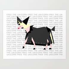 Free The Unicorn Art Print