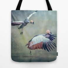 Cranes arriving Tote Bag