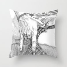 asc 633 - Le point Gräfenberg (I Touch My Tralala) Throw Pillow