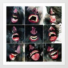 9 gritos Art Print