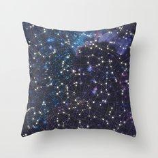 Sky map Throw Pillow