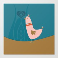 Folsky bird Canvas Print