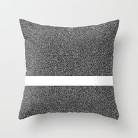 Noise Interrupted Throw Pillow