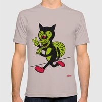THE CAT BURGLAR. Mens Fitted Tee Cinder SMALL