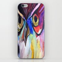 Colorful Owl iPhone & iPod Skin