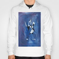 blue pattern art  Hoody