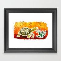 Tortoise Love Framed Art Print