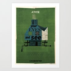 027_ARCHIWRITER_James Joyce Art Print